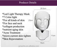 Professional BIO 7 colored Skin PDT phototherapy LED Facial mask
