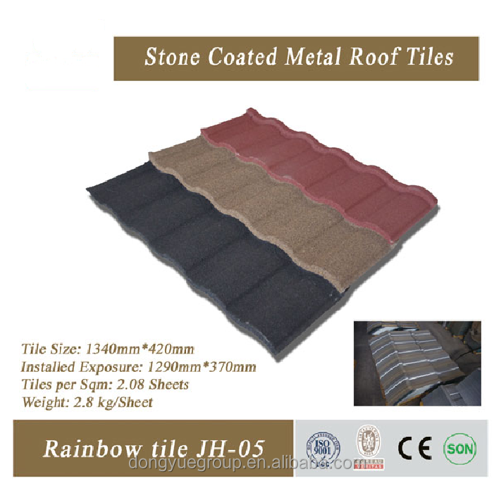 Dongyue brand best quality fish scale roof tile/stone coated steel roof tile