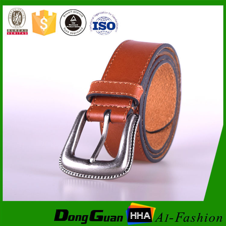2015 cow popular leather work belts for unisex