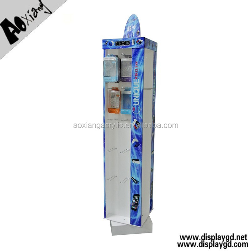 Rotating display stand for mobile accessories,double sides accessories mobile phone display stand