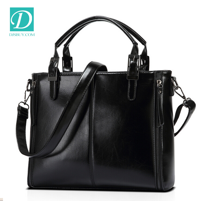 Wholesale used handbags purse women female leather bag set custom printed leather bag