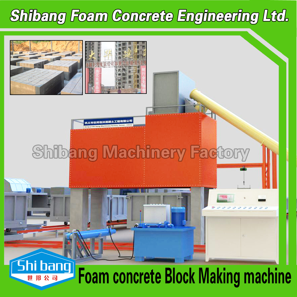 Styrofoam Building Material : Foam concrete block equipment building construction