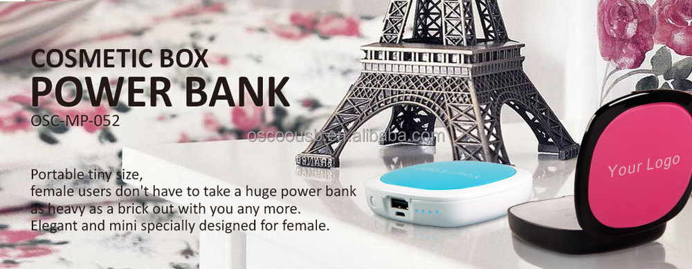 2015 mirror power bank portable oem mobile power bank