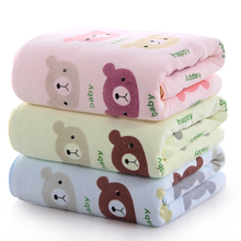 Tuqiang wholesale microfiber bear animal pattern printed soft & absorbent bath towel