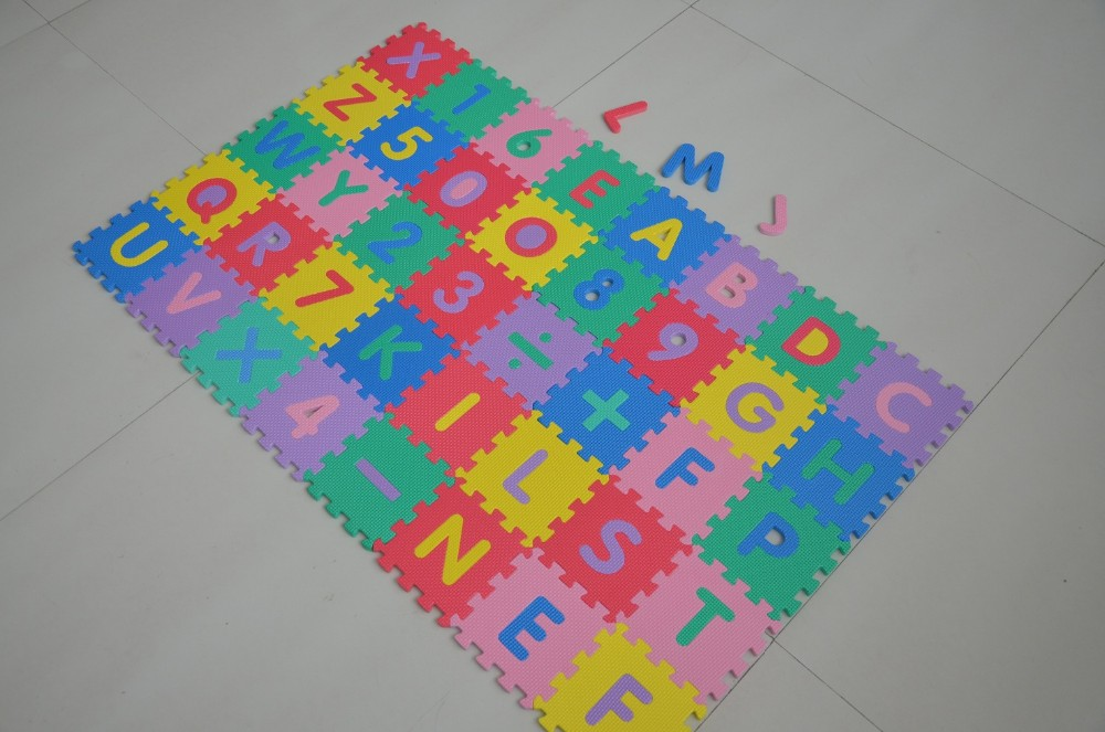 36pcs number alphabet kids play mat jigsaw puzzle eva carpet mat
