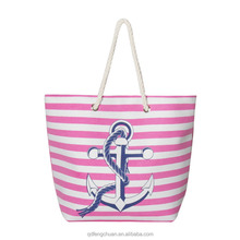 China shopping online new product 2016 Marine style design canvas beach bags