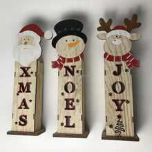 art craft christmas decortaion wooden noel ornaments with light