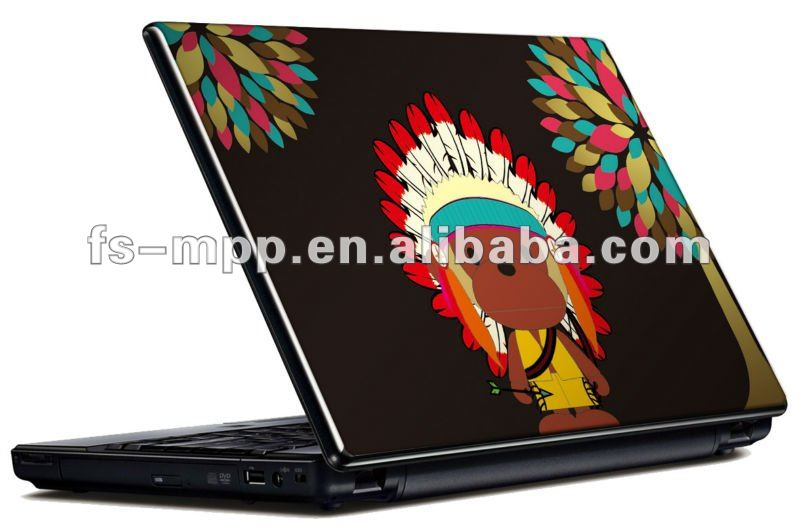 Fancy Fashion Color Skull Laptop full Skin /decoration skin for laptop Universal for less than 15""