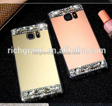 Luxury Glitter Rhinestone Hard Acrylic Mirror Case Cover For Samsung Galaxy S7 S7 Edge