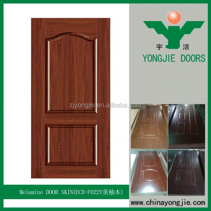 Melamine Wood Door Skin Laminate Sheet Used For Partition Door