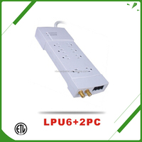 UK 8 outlets power surge strip