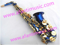 High Quality Blue Body Alto Saxophone Brass sax (AAS001BL)