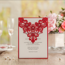 Europe Style New Arrival wedding invitation card floral laser cut cw5238