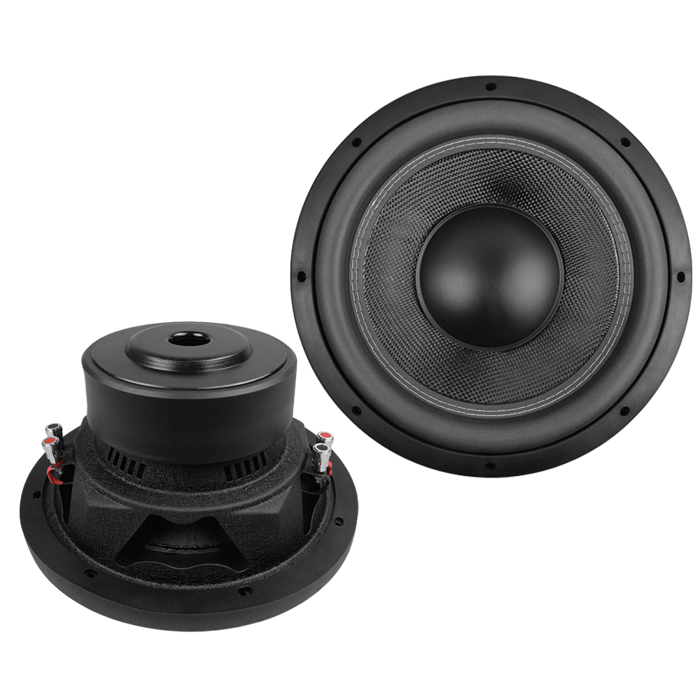 Glass fiber with Paper compound cone good sound 10 12 inch car speaker subwoofer