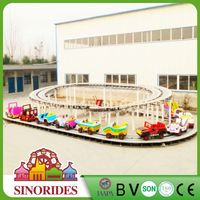 amusement kiddie rides outdoor lighted christmas train