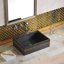 Modern design western style bathroom sanitary ware stone material art basin