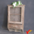 antique decorative mesh door wooden wall cabinet with hooks