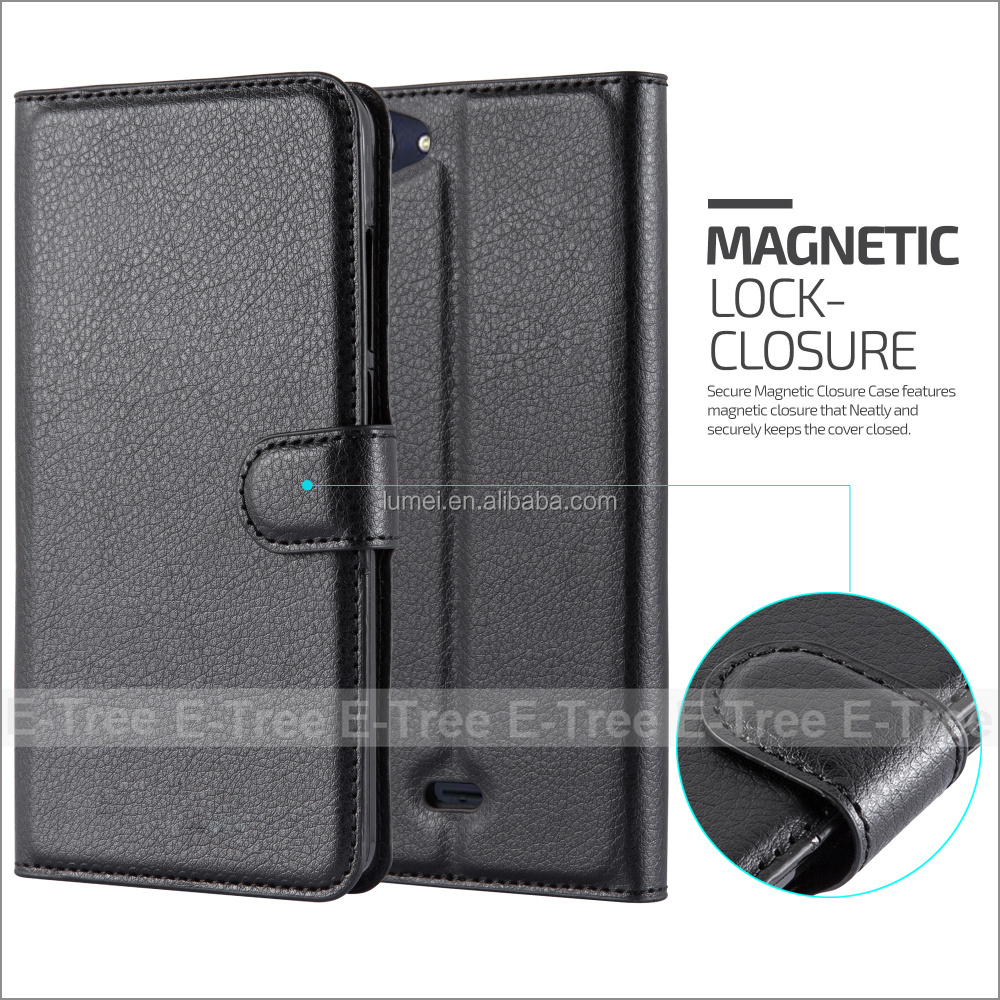 For Wiko <strong>U</strong> Feel Lite Flip Cover, Magnetic Pu Leather Cellphone Case Wallet Cover For Wiko <strong>U</strong> Feel Lite