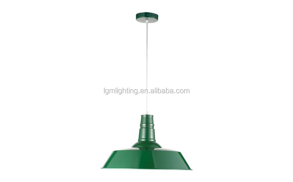 smalto vintage industriale goccia lampada p4027 verde-Luce a soffitto ...