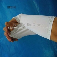 HMD--556 Free shipping 2011 year new style Fingerless Satin White Bridal Gloves