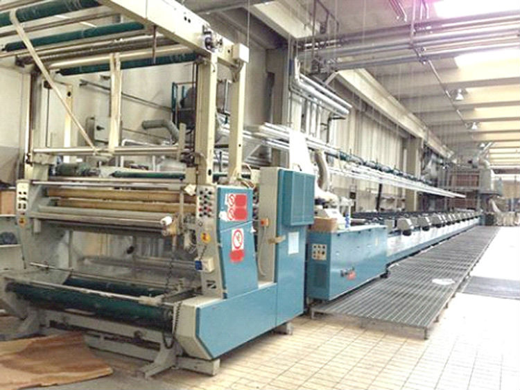 Flat bed screen printing line Reggiani Type Avant 12 colors