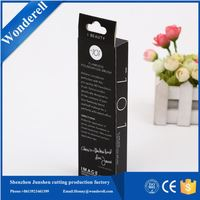 factory made black package elegant 300 gsm paper box packaging