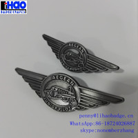 blank metal pin badge,metal pilot wings pin badge