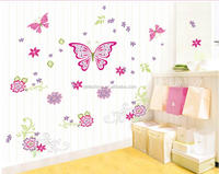 Custom Transparent Cute Wall Decal Wall Stickers Removable Butterfly Wall Decals