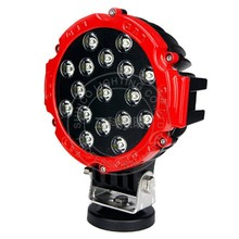 round led driving light lamp 51w red ring black housing led car head light moving led car lamp