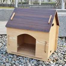 Waterproof beautiful durable factory price wooden dog kennel indoor