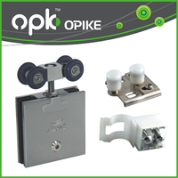OPK Hot Sale Glass Top Hang Sliding Roller Pulley Wheels