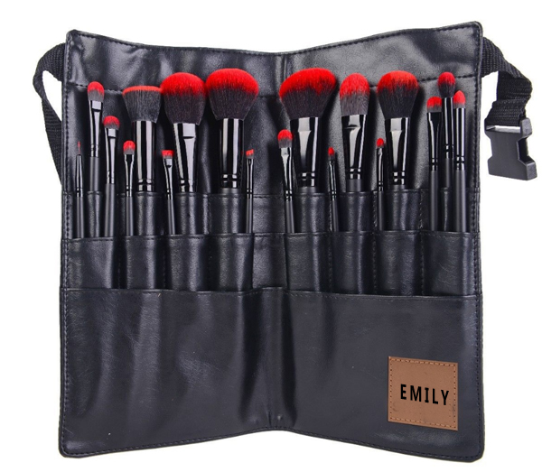 18pcs Professional Makeup Brushes Belt, Personalized Makeup Brush Belt Bag