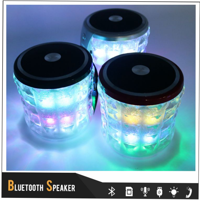 Portable Wireless Multi-function Speaker Built in 1500mAh Battery Bluetooth MP3 Player with Led Light 360 Degree Around