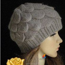 Women Fashion Knit Crochet Beret Hat for winter