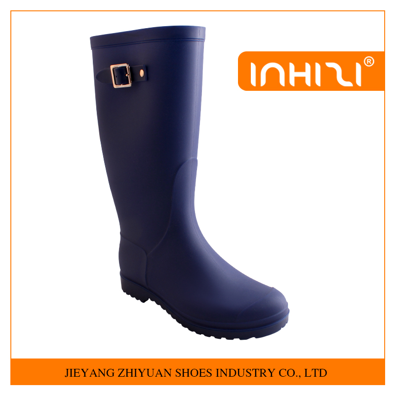 New arrival fashion Side Buckle Half Ladies PVC Rain Boots