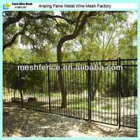 High quality galvanised tubular metal fencing