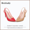 Wholesale Lastest design 9cm ladies high heel shoes fashion red bottom opplique women dress shoes