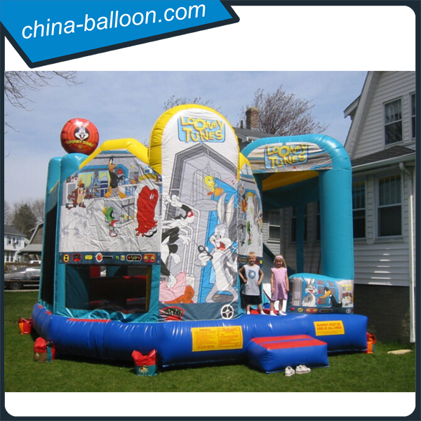 Huge size cartoon combo/inflatable cartoon rabbit castle with bouncer for kids have fun