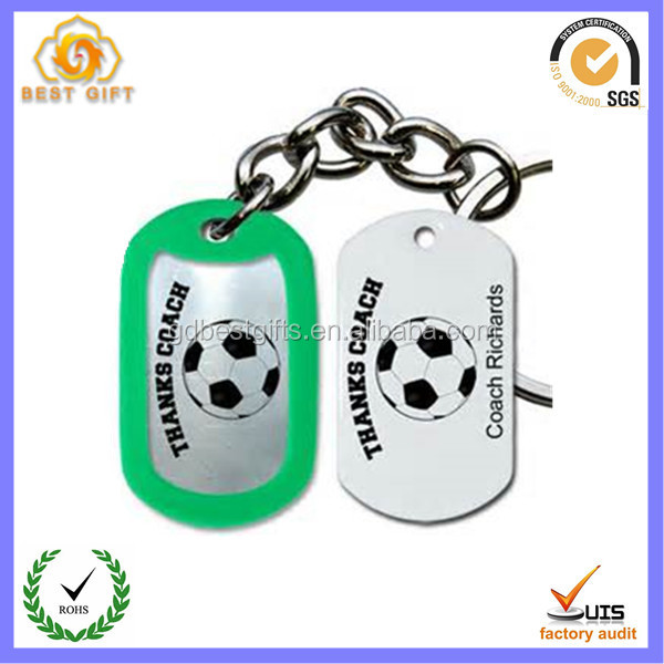 Soccer Gifts Dog Tag Keychains
