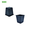 Indoor polish square hand seed planters rose plastic flower pot wholesale