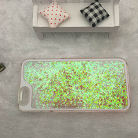 Best Selling Custom Color for iPhone 5 Glitter Liquid Case Factory Price Glitter Phone Case For iPhone 6 Case Cover
