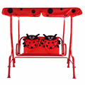 Kids Patio Swing Chair Children Porch Bench Canopy 2 Person