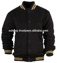 Varsity Jacket Wool Body Leather Sleeves