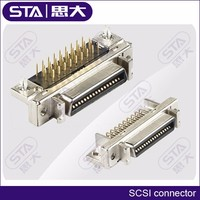 3M PTH right angle double verstion 2x 20 2x 26 2x 36 2x 50 pin MDR PCB connector