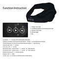 Sleep Eye Mask with Wireless Bluetooth Stereo Music Player Headset