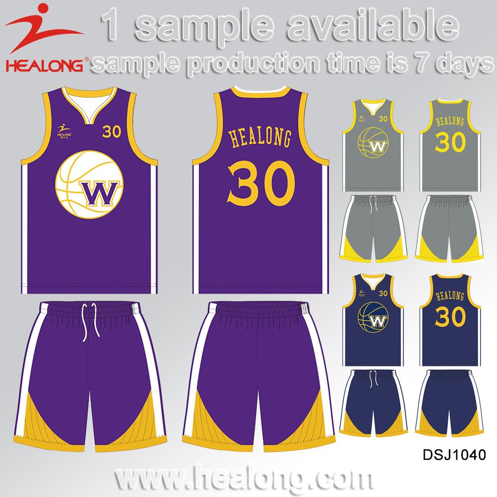 Unique Color Combination Reversible Custom Best Latest Basketball Jersey Uniform Design