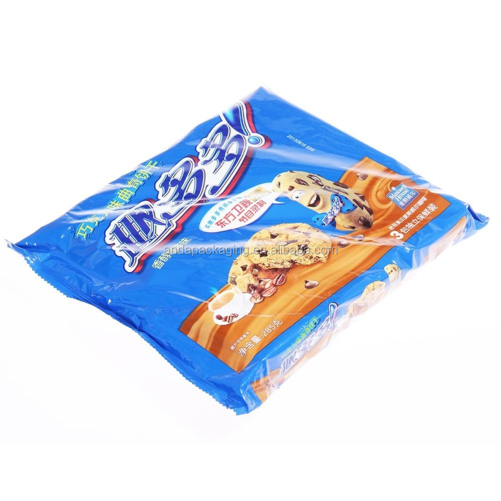 Free Design Wafer Biscuit Plastic Packaging Bag with Side Gusset