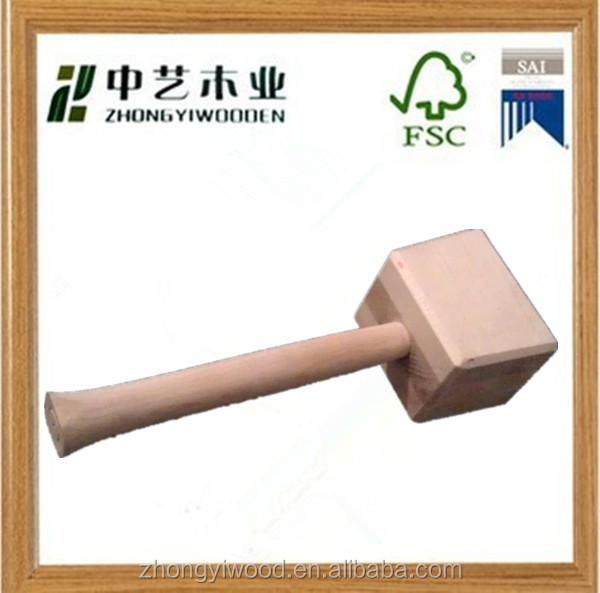 unqiue natual handmade kids toys wooden hammer wood gavel