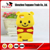 Animal silicone case for iPod Touch 5 Winnie pooh