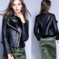 2017 latest designs lady casual fashion women leather motorcycle jacket for wholesale